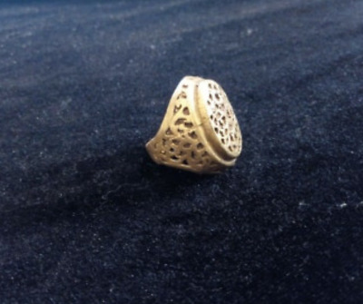 Extremely Ancient Antique Rare Vintage Ring Viking Bronze Artifact Quality