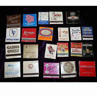 Lot of 22 Vintage Las Vegas Casino Hotel Matchbooks Collectibles Some rare!
