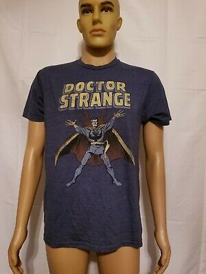 c08dba56e5 Marvel Comics Dr. Strange Blue Tee T Shirt Size Medium Doctor Strange Retro  Suit
