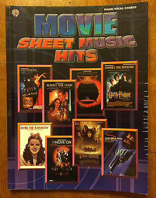Movie Hits Music sheet song book 2003, over the rainbow, James Bond Harry Potter