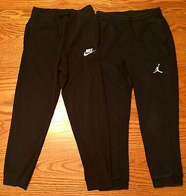 bff3142cffbb NEW!! JORDAN PANTS Youth Large 12-13 Years Black White -  37.99 ...