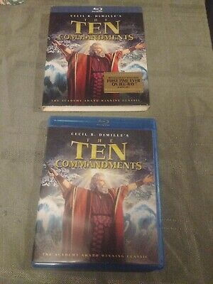The Ten Commandments (Blu-ray Disc, 2011, 2-Disc Set) with slipcover