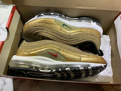the best attitude d821d 6517f NIKE AIR MAX 97 cr7 gold Cristiano ronaldo Uk6 Patchwork Trainers Shoes