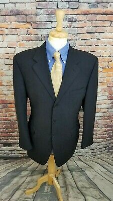 Canali ITALY 42L Charcoal Grey Micro-Plaid 3 Button WOOL SportCoat Blazer Jacket