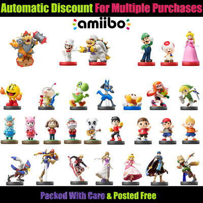 Your Choice Of 🔹 ASSORTED NINTENDO AMIIBO 🔹 Boxed For Shipping! 15/08/19