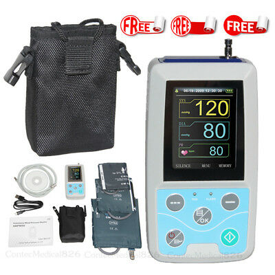 FDA 24 Hours Ambulatory Blood Pressure Monitor Holter 3 Cuffs+Software,US Seller