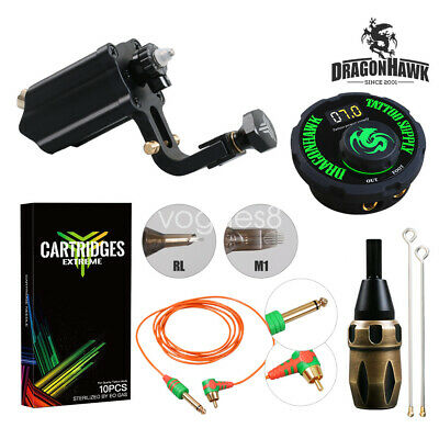 Rotary Machine Tattoo Kit Cartridge Needles LCD Mini Power Equipment Supplie V