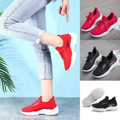 Fashion Womens Ladies Casual Anti-Slip Sport Walking Sneakers Loafers Soft Shoes