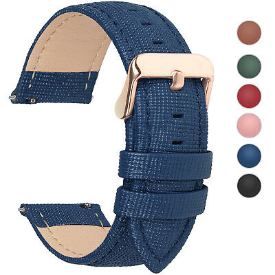 6 Colors Fullmosa18/20/22/24mm Quick Release Leather Wrist Watch Band Strap Belt