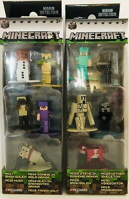 Minecraft Nano MetalFigs BUNDLE Pack A /& B 10 Diecast Figures FREE SHIPPING