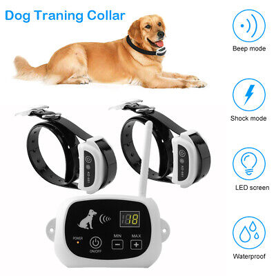 Pet 1/2/3 Dogs Fence Wireless Training Containment System Collar Electronic Tool