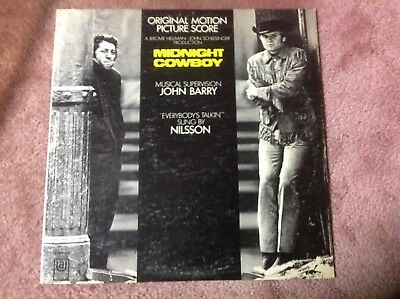 """""""Midnight Cowboy"""" OST 1969 – United Artists UAS-5198 – 12"""" Soundtrack LP stereo"""