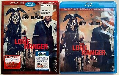 Disney The Lone Ranger Blu Ray Dvd 2 Disc Rare Best Buy Exclusive Red Slipcover