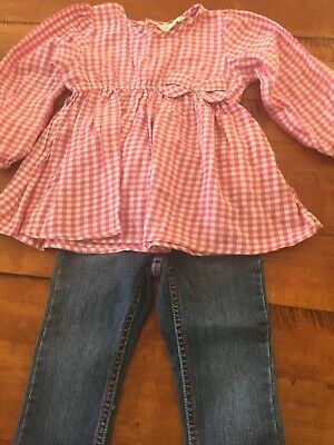 Pumpkin Patch Size 3 Girls Jeans And Top So Cute