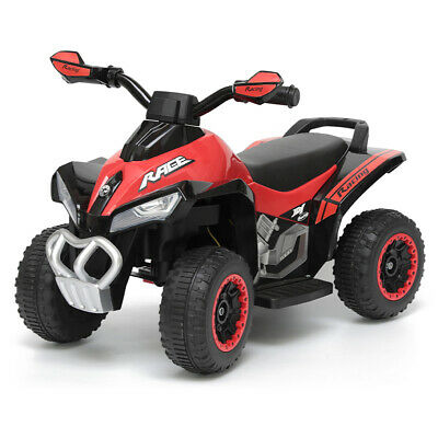 Indoor/Outdoor Red Electric Quad Bike Ride On/Motorbike/Kids/Toddler/6V Battery