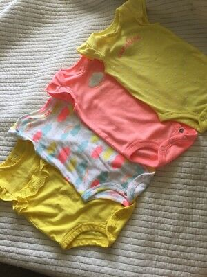 baby Girl Sunshine-y Carters 4 pc lot, Size 3 months, Sooo Adorable!