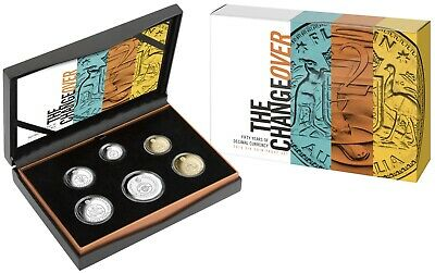 Australia 2016 Proof Coin Set 50th Anniversary Changeover to Decimal Currency