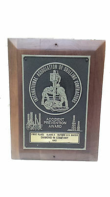 Nautical Vintage ''Accident Prevention Award '' Eccentric Shield S077