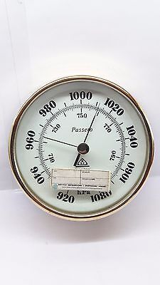 Passero Aneroid Barometer Vintage Made in Poland