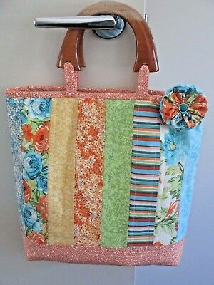 Handmade Patchwork Quilted Bag #4