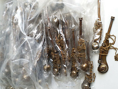 Lot Of 50 pc Navy Bosun's Pipe antique Brass Boatswain Whistle Chain Pendant