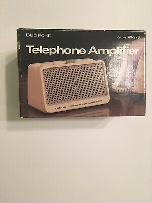 RADIO SHACK DUOFONE phone amplifier, Vintage, Sold in 1987