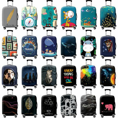 """18-32"""" Luggage Cover Printed Trunk Case Baggage Suitcase Protective S/M/L/XL New"""