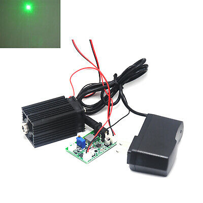 Focusable 532nm 80mW Green Laser Diode Dot Module 12V w/TTL & Driver + Adapter