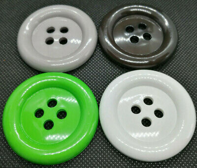 4 x Large Clown Buttons Choice Of Size /& 12 Colours