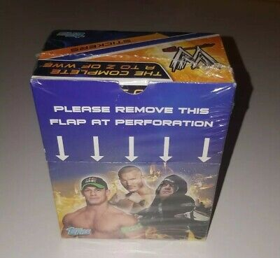 The Complete A-Z Of WWE Stickers New Sealed Box and Sticker Album (Topps, 2014)