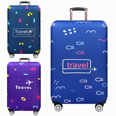 18'-32''Printed Elastic Travel Luggage Suitcase Protective Cover Case Dust Cover