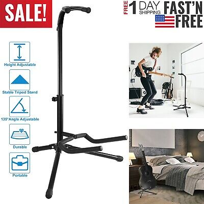 2 Tire Musician's Gear Electric Acoustic and Bass Guitar Stand Black