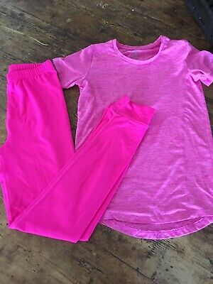 Pink Sports Wear Outfit Age 11-12 . Champion Top Crane Bottoms