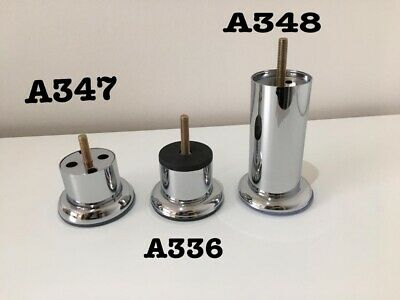 4 x new Silver chrome feet REPLACEMENT FURNITURE LEGS / FEET table SOFA CHAIRS,