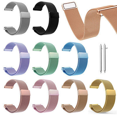 20mm Milanese Magnetic Wristwatch Band Strap For Samsung Galaxy Watch Active