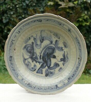 A Chinese Blue and White Porcelain Dish, Ming Dynasty