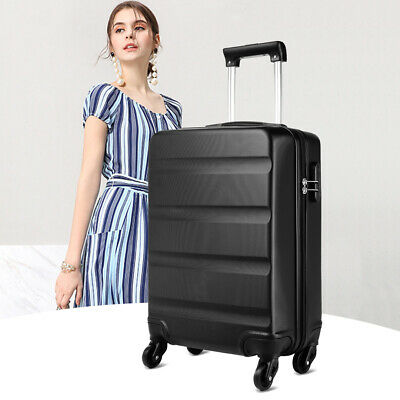 Cabin Hand Luggage Suitcase Ryanair 4-360° Wheels ABS Travel Case Bag