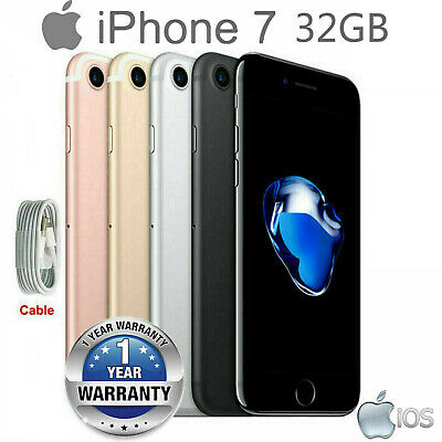 New Apple iPhone 7 32GB A1778 GSM AT&T Unlocked Quad-Core Smartphone All Colors