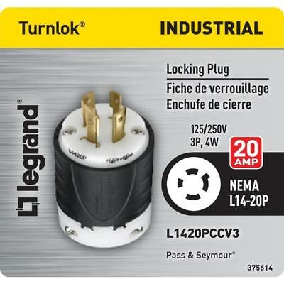 Legrand Pass & Seymour L1420PCCV3 Industrial Specification Grade Turn Lock 20AMP