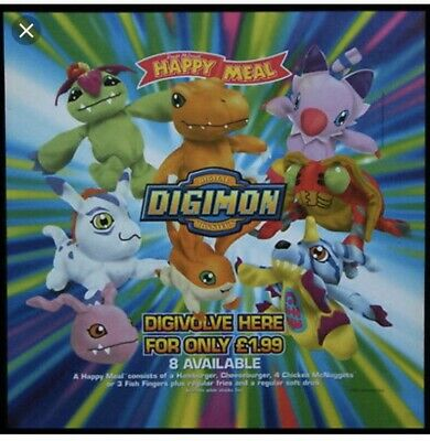 Digimon McDonald's Happy Meal Soft Toy Bundle Vintage Collection 2001
