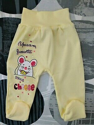 Baby Infant Girls Trousers with feet Pands 100% Cotton 9-12/12-18/18-24 Months