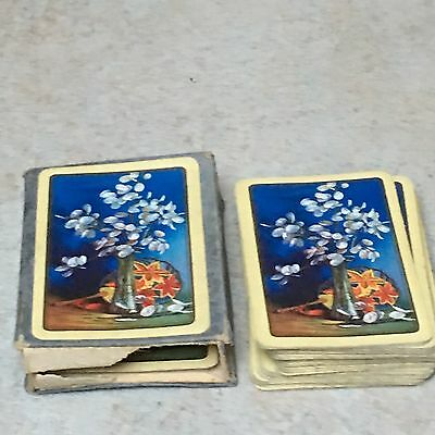 Vintage Playing Cards Retro 1930s 1940s 1950s Linen Boxed Retro