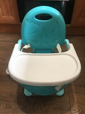 New Chicco Pocketsnack Portable Highchair Blue Removable Tray Three Heights