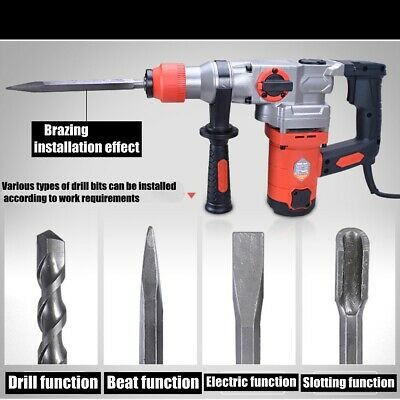 1800W Demolition Jack Hammer Rotary Commerical Electric Jackhammer Drill Tool AU