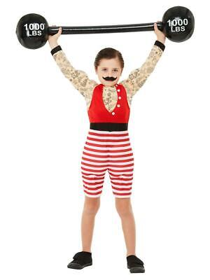 Boys Deluxe Strongman Costume Circus Showman Child Fancy Dress Outfit
