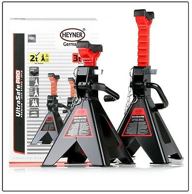 HEYNER Premium adjustable axle jack stand 2 TON car lifting emergency Set of 2