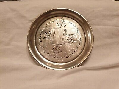 Russian 84 Engraved Silver Pin Dish by Aleksandr Fuld