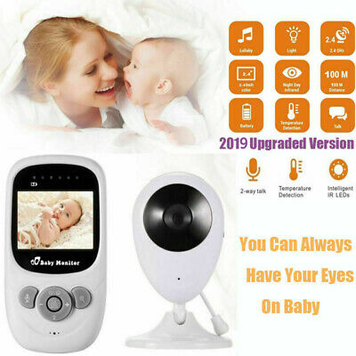 Wireless 2.4GHz Digital Color LCD Baby Monitor Camera Night Vision Audio Video K
