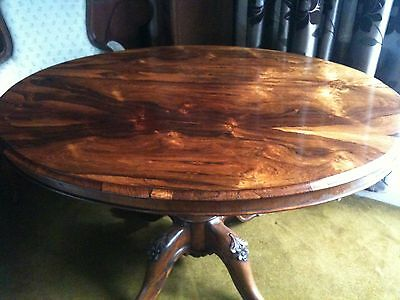 victorian carved mahogany tilt top oval breakfast table