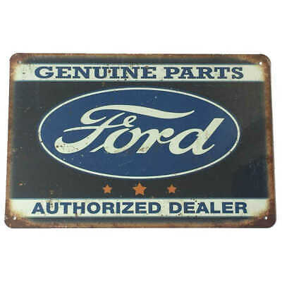 Ford Genuine Parts Tin Sign Car Shed Garage Man Cave 30cmx20cm - New